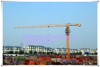 china tower crane manufacturer, 6 ton flat-top/ topless tower crane QTP100 topless tower crane