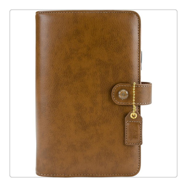 Faux Leather Cover Personal A5 6 Ring Binder Planner with Various Colors