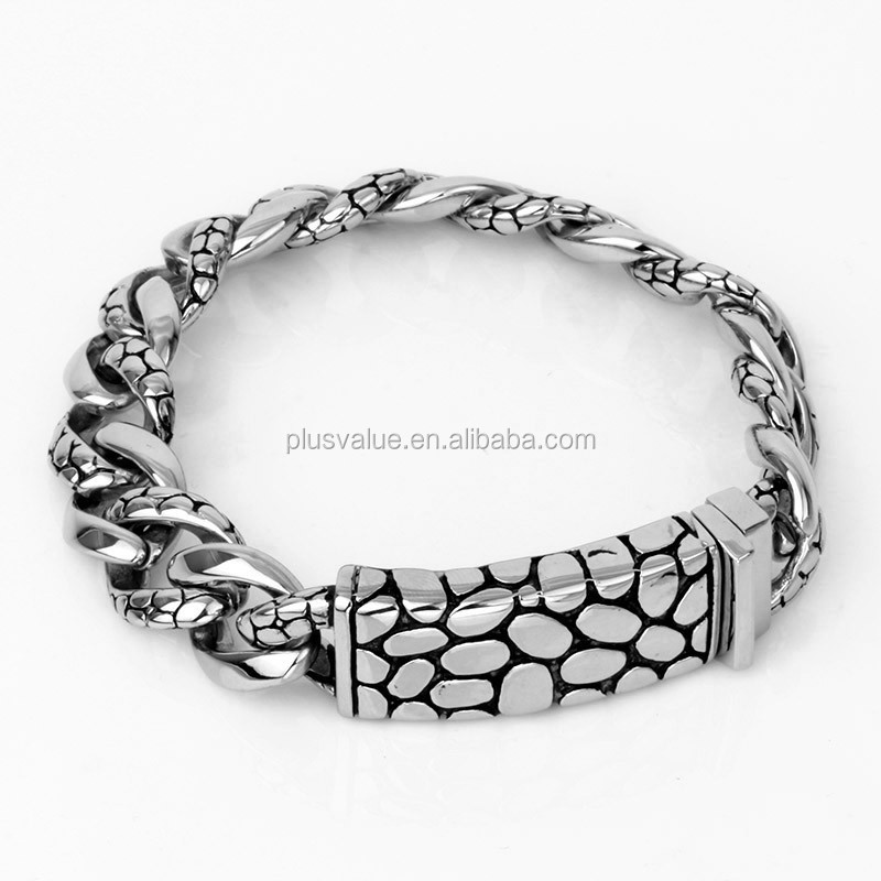 2015 latest trend 316l stainless steel fashion good luck symbol stone pattern bracelets wholesale on line alibaba