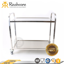 hotel use foods moving elegant designed serving trolleys cart with 4 wheels