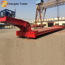 hydraulic Detachable gooseneck Lowboy Lowbed Low Bed Semi trailers with motor