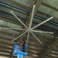 24ft Air Cooling Industrial large Ceiling Fan in factory