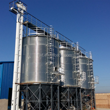 Corrugated steel storage malted barley silos
