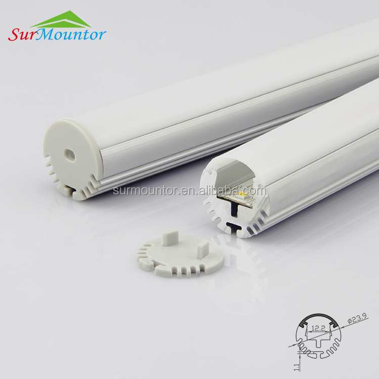 led sensor light wardrobe light alu round led aluminum profile