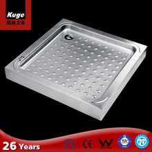 stainless steel cement shower tray