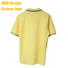 Customised Promotion with logo 100% cotton Short Sleeves men Polo Tshirt