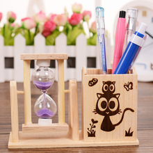 FQ brand wood high quality cartoon gift wooden hourglass, Sand Clock, sand timer set