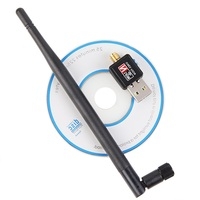 Usb Wireless Wifi Network Adapter Receiver 5dB 802.11b/g/n Antenna 150Mbps Lan Wireless Network Card Portable Usb WiFi Adapter