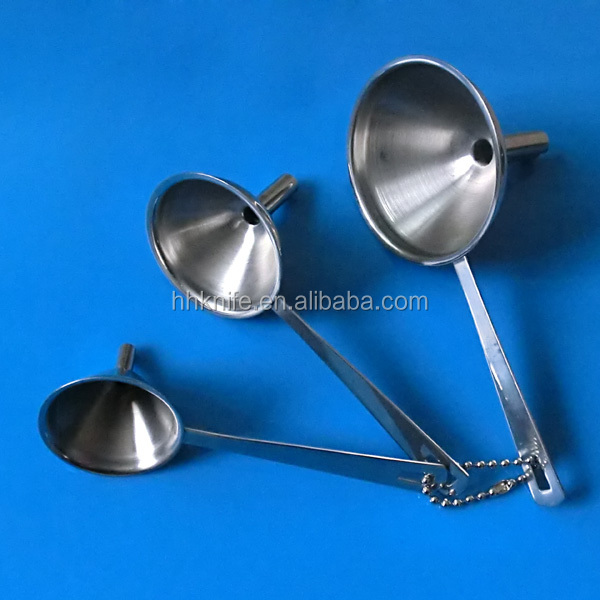 Set of 3 Stainless Steel Funnel
