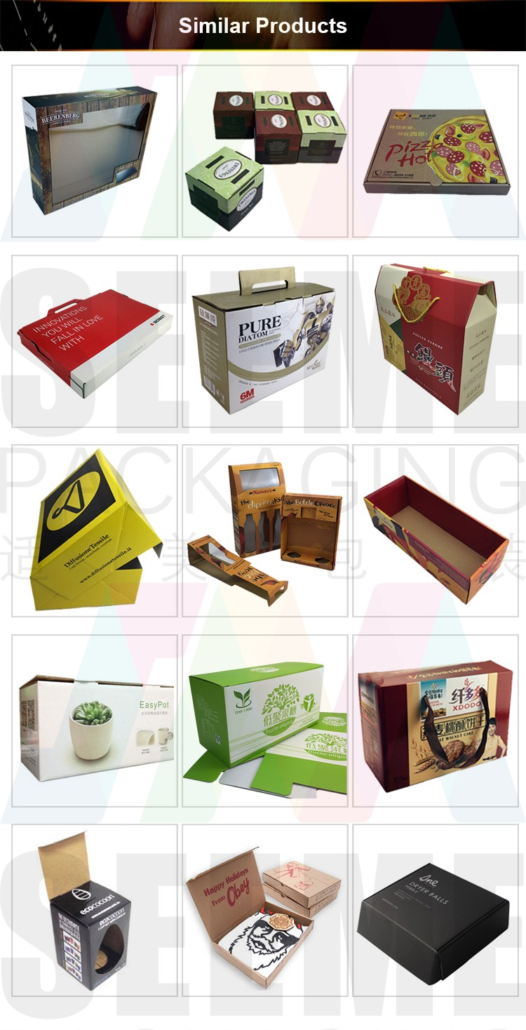 custom printed paper packaging box sleeves for cake and chocolate