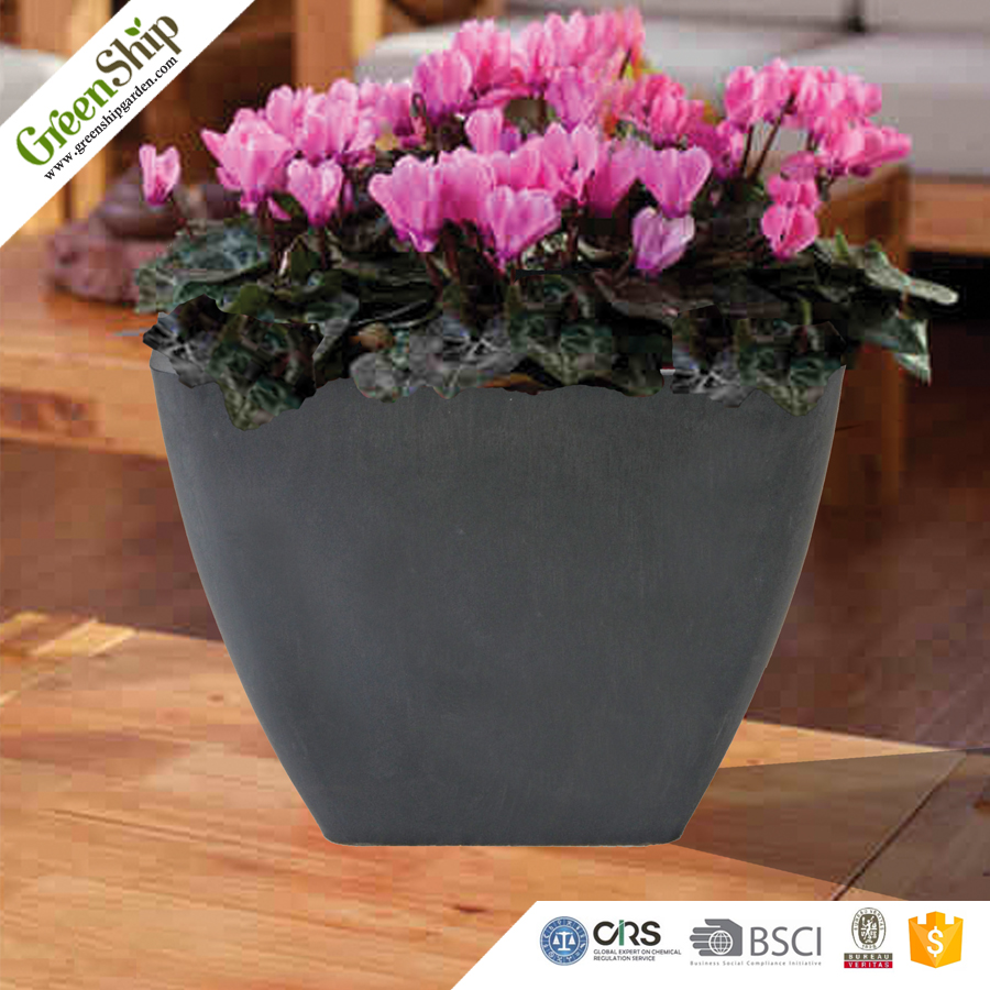 Plastic Garden Planter/ balcony flower pots/Recyclable/20 years/new design/UV protection