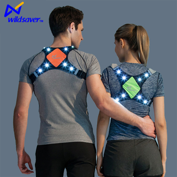 New design outdoor safety sports LED running vest