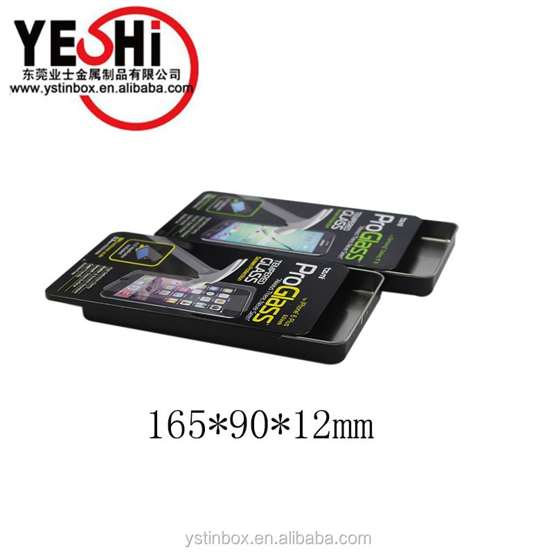 sliding tin boxes/cases for mobile phone accessories packaging