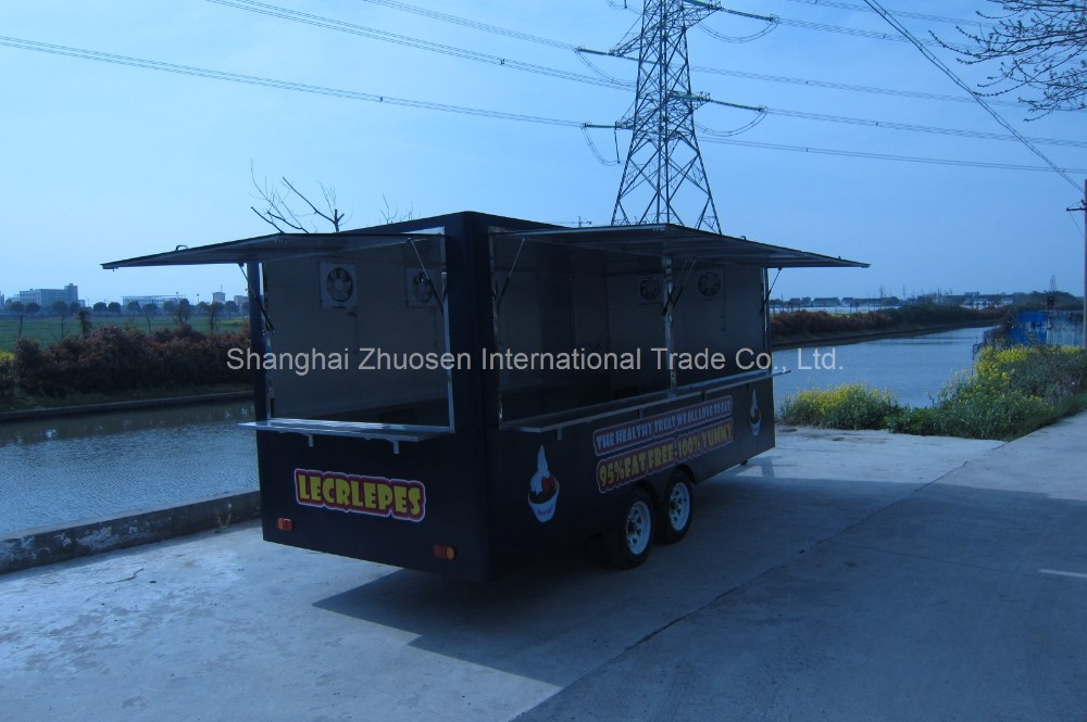 2015 New Style Custom Mobile Coffee Fruit Stall Food Equipment Truck