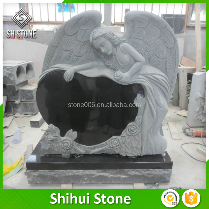 Firm Stone Granite Heart Shaped Cemetery Headstone