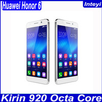 Original Huawei Honor 6 4G LTE FDD Octa Core Dual SIM 5 Inch Hisilicon Android 4.4 Smart Mobile Phone 3GB RAM 16G 32GB ROM WCDMA