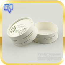 Handmade white cardboard soap boxes elegant round container soap packaging round boxes