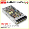 Meanwell RSP-150-15 150w industrial switching power supply 15v 10a