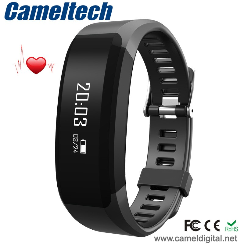 Hot-selling fitbit charge hr wireless activity wristband,fitness sports silicone bracelet,smart silicone waterproof wristband