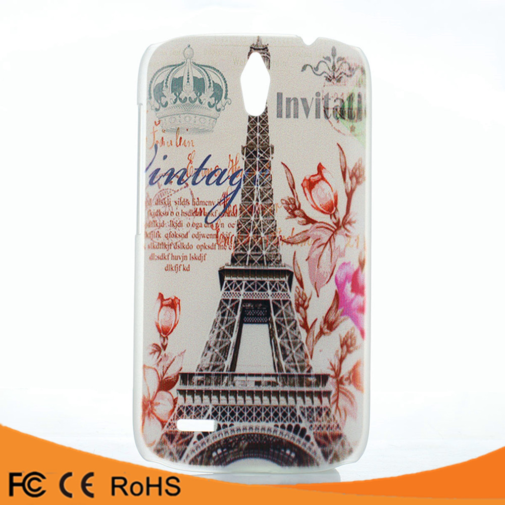 Mobile phone accessory scrub colorful paint transparent back cover case for huawei g610
