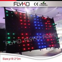 Pixel18 flashing blinking lights led stage effect led light curtain wall