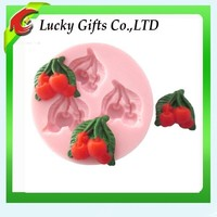 DIY Cherry Fruit Soap Molds Silicone Kitchen Pink Mold
