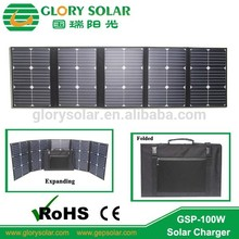 100 Watts solar charger portable folding solar panel bag for 12volts battery charging