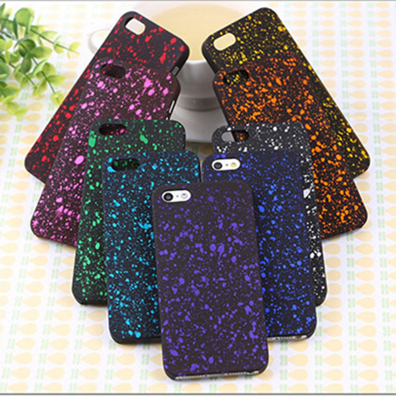 Wholesale New Style 3D Cover Three-dimensional Stars Ultra thin Frosted Starry Sky Phone Case for iPhone 5 5s SE Shell