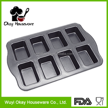 cupcake square paper baking 8 cups cake mould BK-C0008