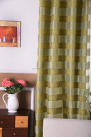 wholesale top quality double swag shower curtain with valance