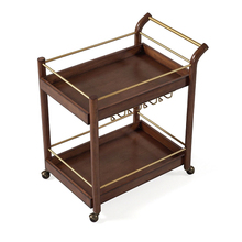 Wooden Design Hand Push Food Trolley Cart For Sale
