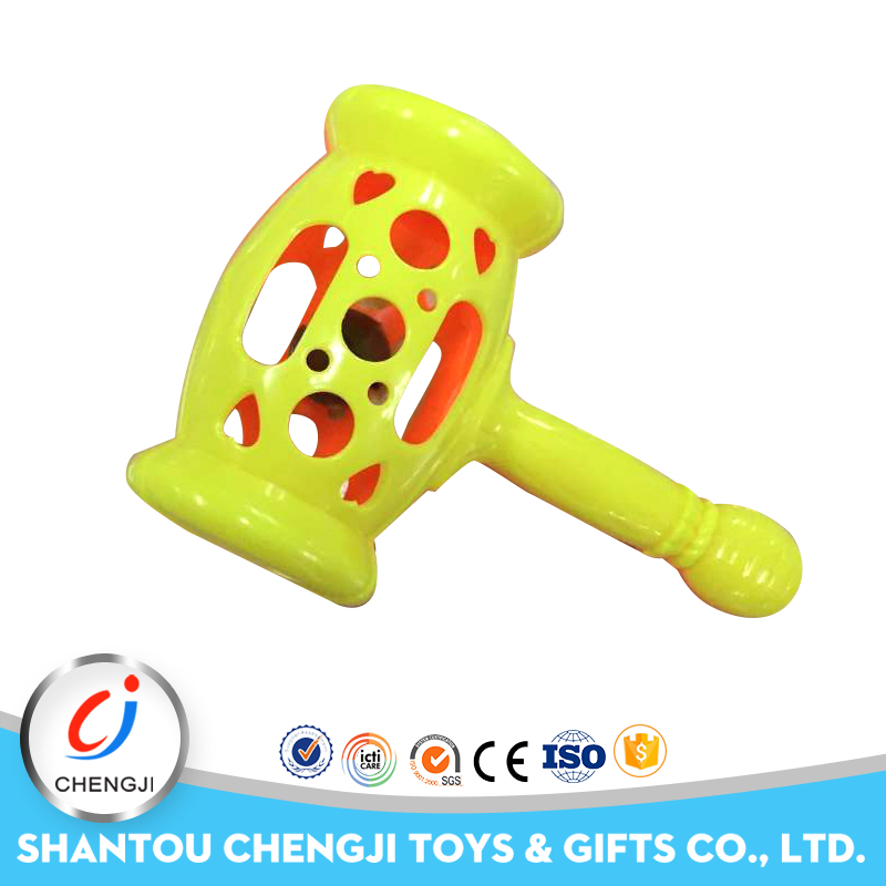 High quality kids plastic hammer toy baby rattle toys
