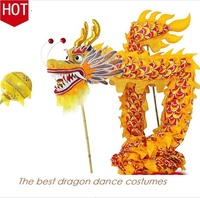 Chinese Dragon Dance Equipment Dragon Dancing Costume Traditional Chinese Dragon Dance Performance