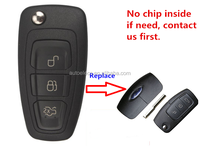 New Modified remote Flip key for Ford 3 buttons focus mondeo remote key ford remote fob 433mhz FO38 blade no transponder chip