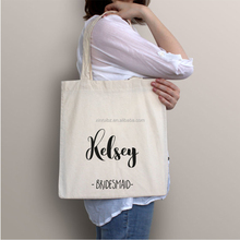 Wholesale new fashion custom cotton canvas tote shopper fabric gift bags