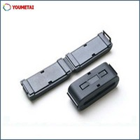 flat cable components EMI suppression split ferrite core with plastic shell
