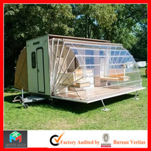 Multifunctional customed folding camping trailer with kitchen living room bedroom