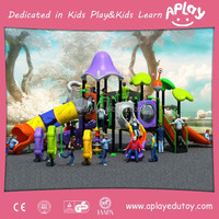 Aplay children outdoor playground big slides for sale used for restaurants playground equipment AP-OP10817