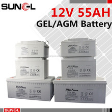 Trade assurance low self-discharge VRLA 12V 50AH 55AH gel battery