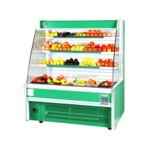 Best price supermarket showcase refrigerator/China exporters commercial fridge/fruit and vegetable display cooler