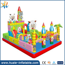 PVC tarpaulin bouncer bed, inflatable jumping bed, inflatable bouncer castle
