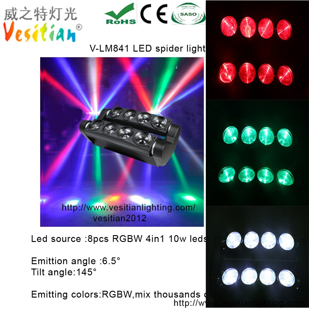 best selling products in italy 10w Led Moving Head Light 8*10w LED Spider beam disco