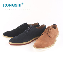 China shoes factory smart classic luxury fancy fashion office leader business casual red sole men man suede genuine leather shoe