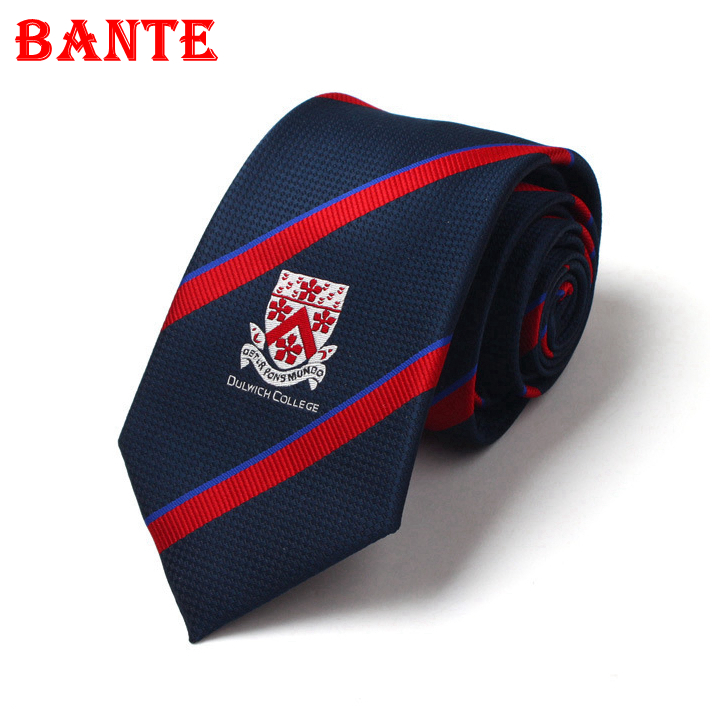 Customize Mans Polyester Embroidery Woven Logo Tie