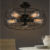 Vintage Retro Fan Style Ceiling Lamp, pendant light industrail lighting with Edison Bulbs