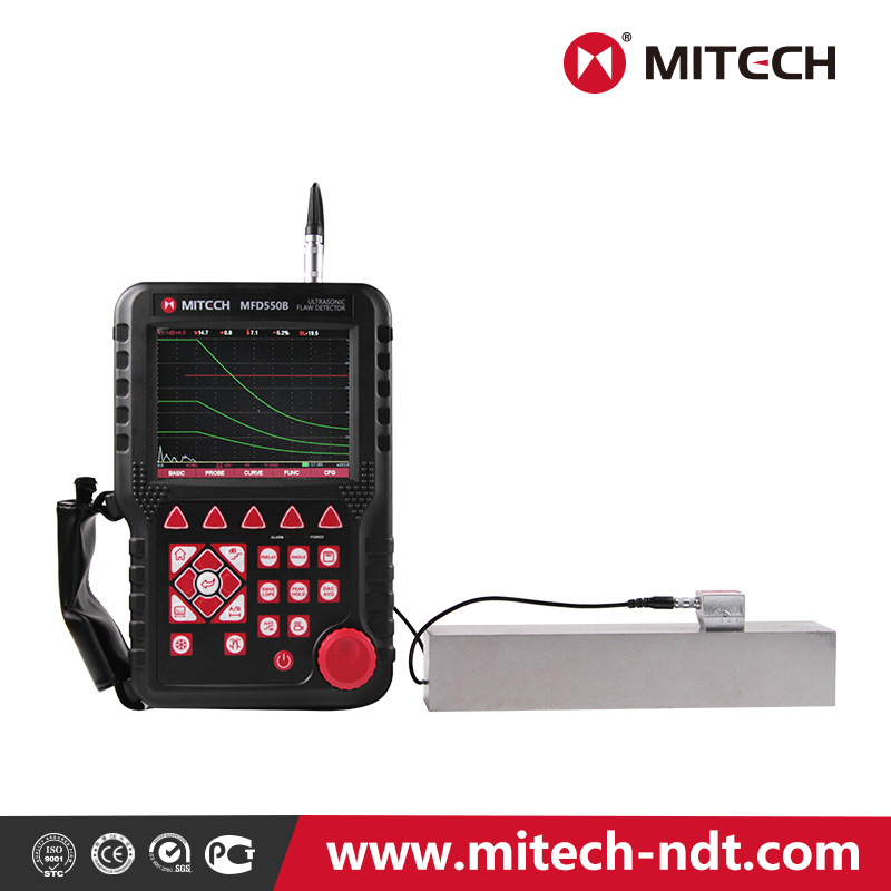 Mitech intelligent Ultrasonic Flaw Detector 550B for non-destructive inspection with ISO Certification