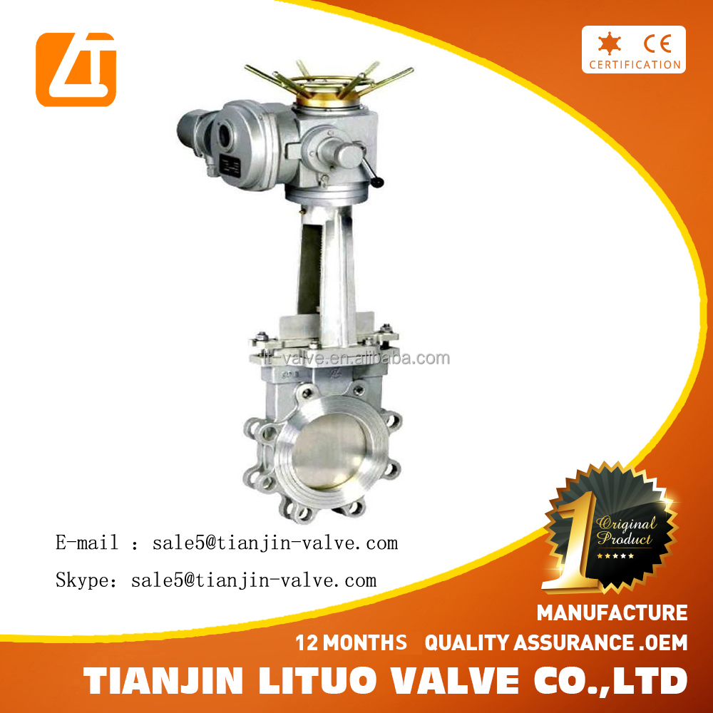 BCf8m Chain Operated knife Chain Wheel gate valve