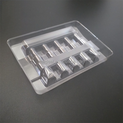 Free sample custom disposable blister medical vial tray plastic vial tray