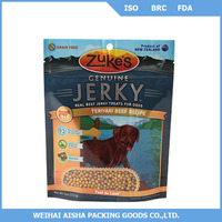 Doypack stand up with zipper bag for pet food packaging manufacturer