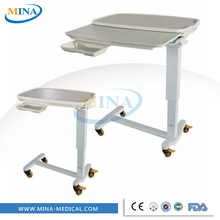 MINA-G06-J Mobile and height adjustable tray tables with wheels